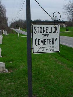 Stonelick cemetery sign