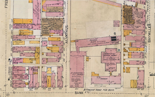 Bank Street map 1920